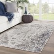 Product Image of Gray, Ivory (POL-07) Outdoor / Indoor Area Rug