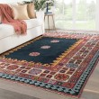 Product Image of Dark Blue, Pink (SLN-01) Traditional / Oriental Area Rug