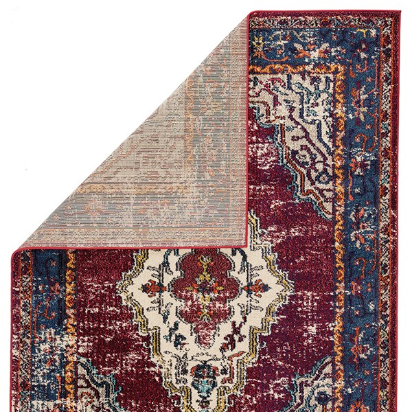 Maroon, Blue (AMZ-12) Traditional / Oriental Area Rug