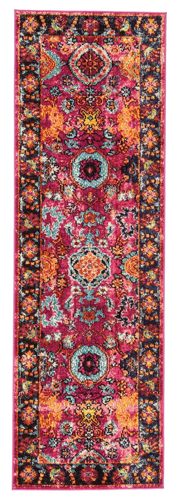 Pink, Orange (AMZ-01) Traditional / Oriental Area Rug