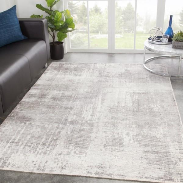 Light Gray, White (JUT-01) Contemporary / Modern Area Rug