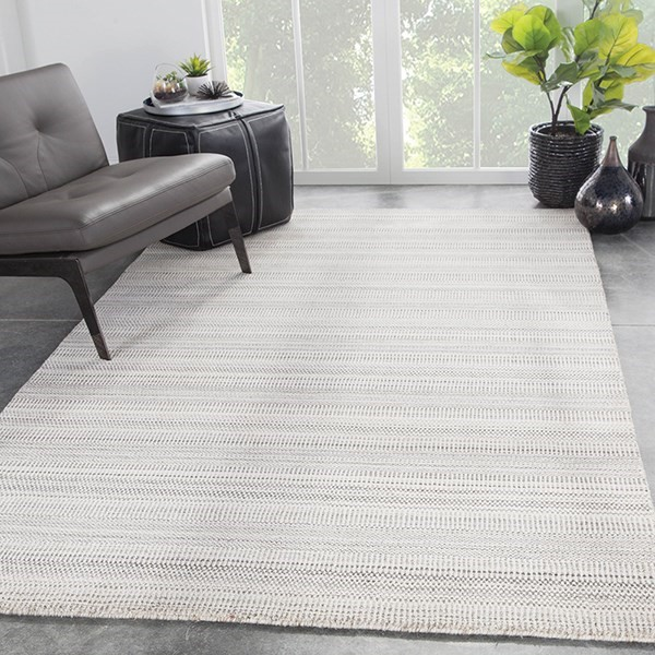 Beige, Gray (TEI-01) Striped Area Rug