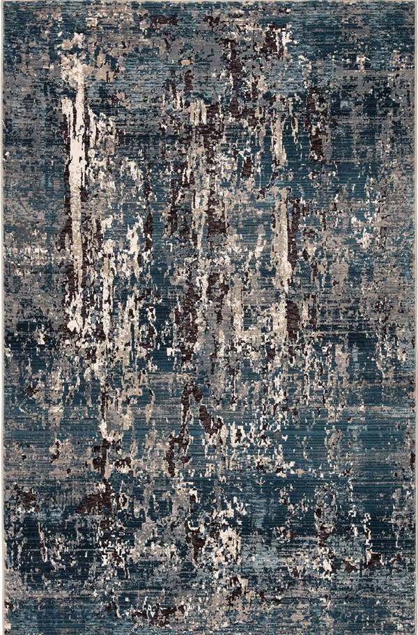 Blue, Brown, Beige (AIR06) Contemporary / Modern Area Rug