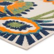 Product Image of Navy, Orange, Beige (BLZ-03) Outdoor / Indoor Area Rug
