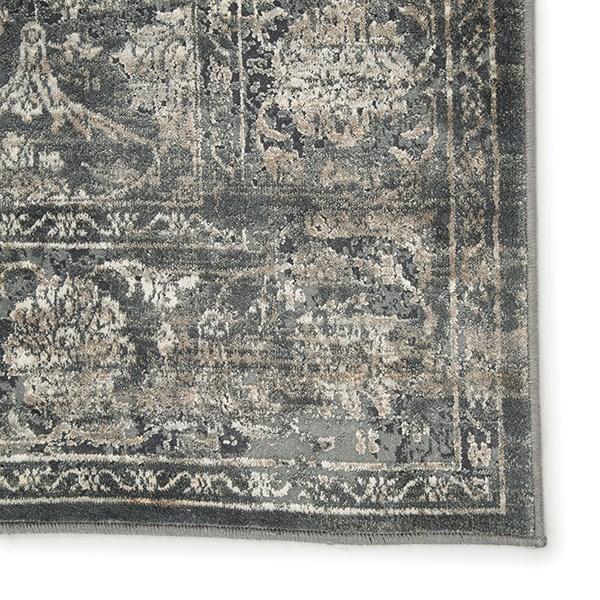 Blue, Gray (CAI-01) Traditional / Oriental Area Rug