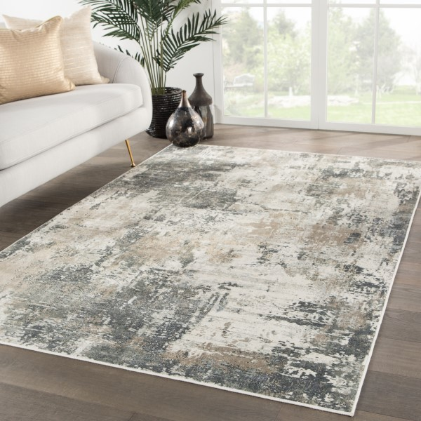 Gray, Gold (CAI-02) Abstract Area Rug