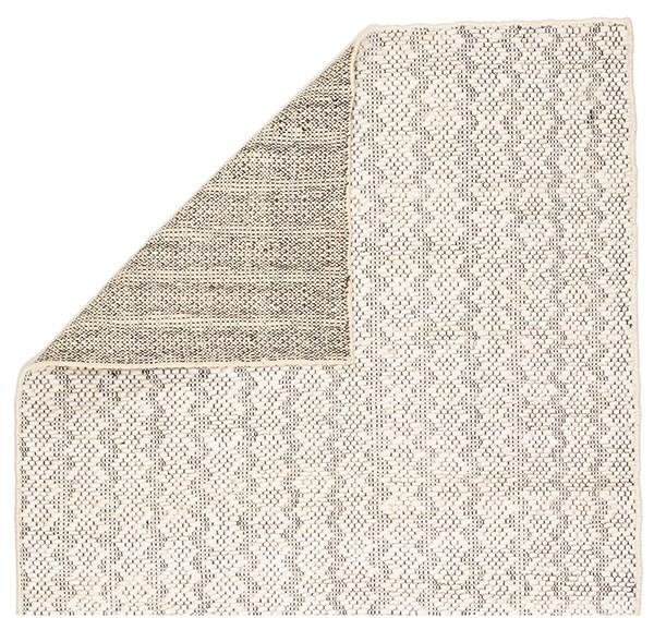 Ivory, Black (NTB-03) Natural Fiber Area Rug