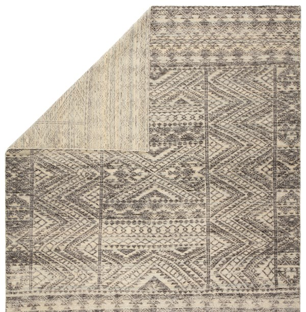 Dark Grey, Taupe (REI10) Moroccan Area Rug