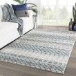 Product Image of Blue, Grey (DAT-02) Moroccan Area Rug
