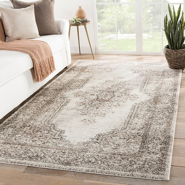 Ivory, Brown (DAT-09) Traditional / Oriental Area Rug