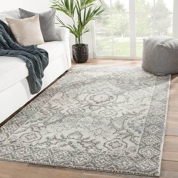 Grey, Blue (DAT-10) Traditional / Oriental Area Rug