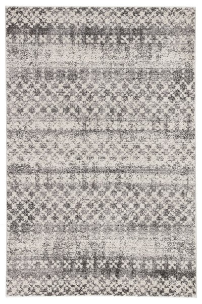 Grey, Ivory (DAT-04) Moroccan Area Rug