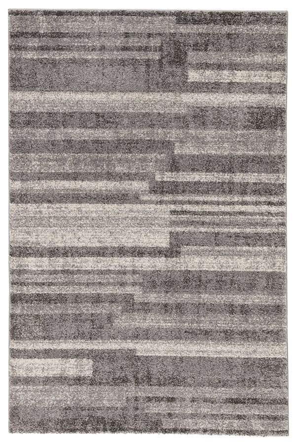 Grey (DAT-05) Striped Area Rug