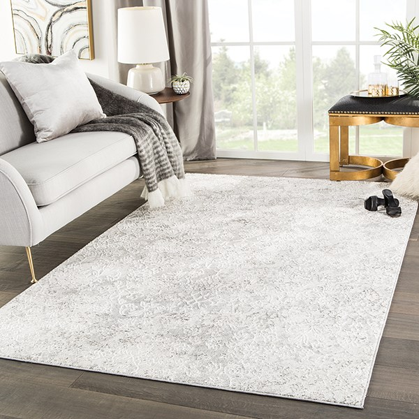 White, Light Grey (NSH-01) Vintage / Overdyed Area Rug