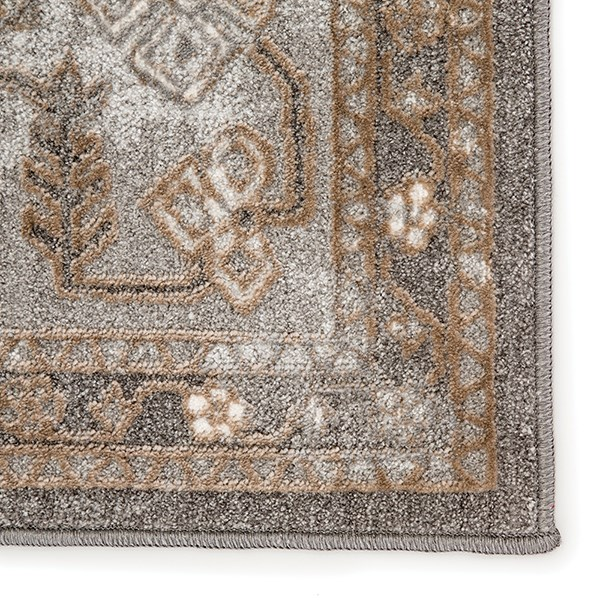 Grey, Tan (NSH-06) Traditional / Oriental Area Rug