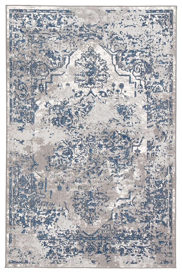 Blue, Grey (NSH-05) Vintage / Overdyed Area Rug