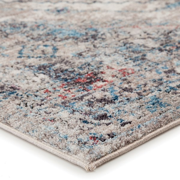Grey, Pink (OST-05) Vintage / Overdyed Area Rug