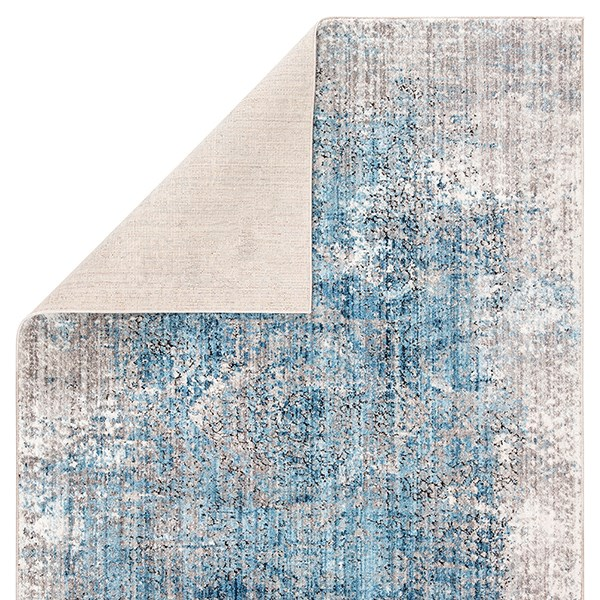 Blue, Light Grey (OST-09) Vintage / Overdyed Area Rug
