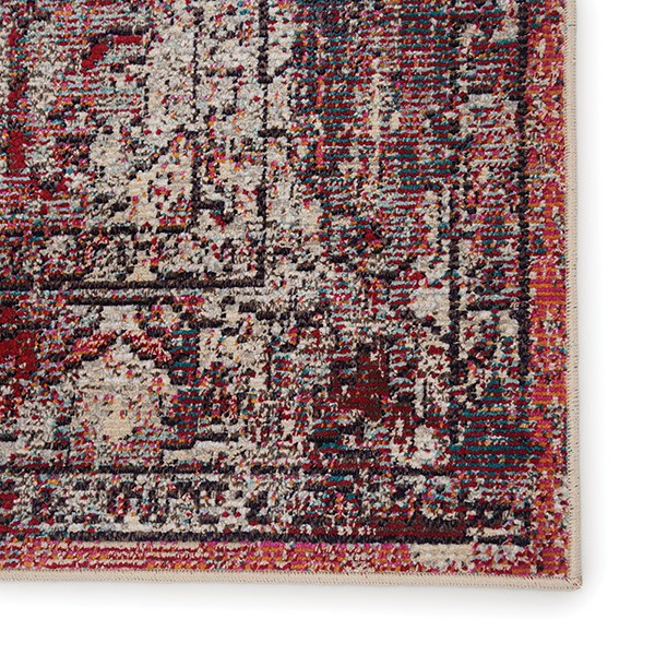 Red, Pink (PRD-10) Traditional / Oriental Area Rug