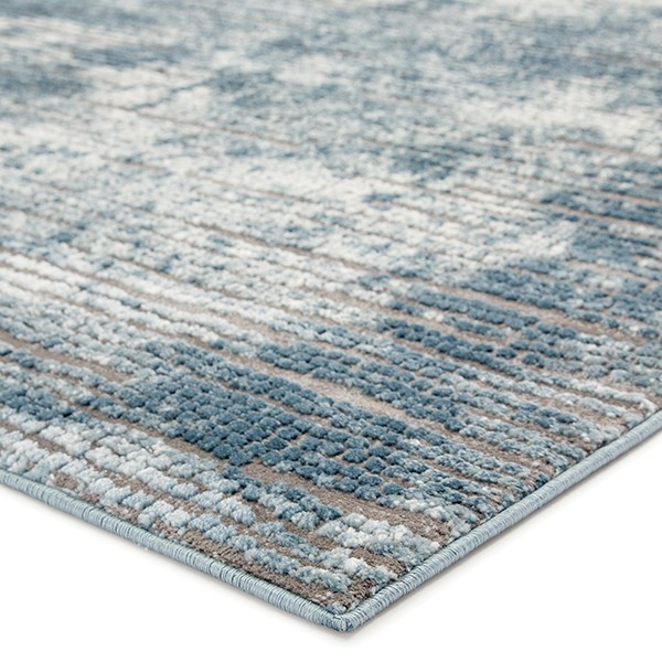 Blue, Grey (TRS-03) Contemporary / Modern Area Rug