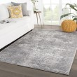 Product Image of Grey, White (TRS-04) Contemporary / Modern Area Rug
