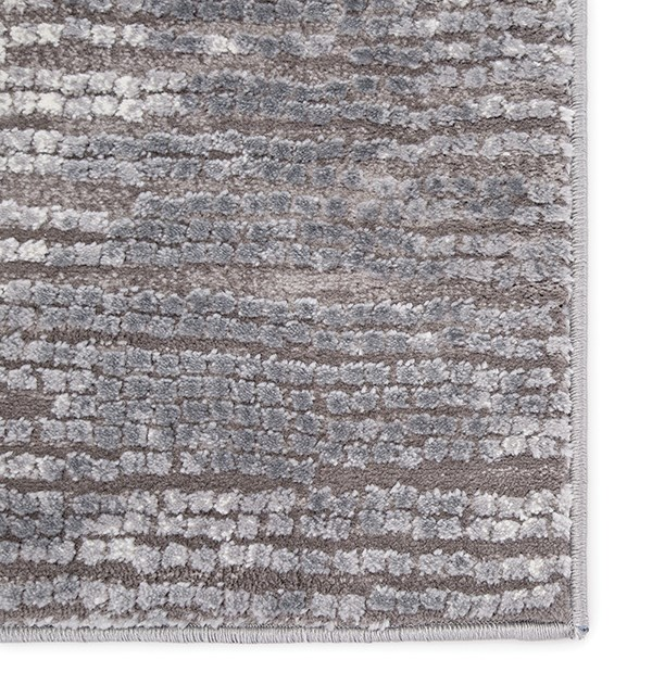 Grey, White (TRS-04) Contemporary / Modern Area Rug