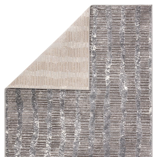 Grey, White (TRS-10) Contemporary / Modern Area Rug