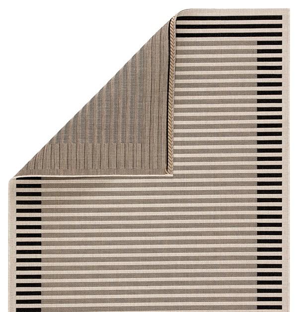 Ivory, Black (CAM-05) Outdoor / Indoor Area Rug