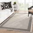 Product Image of Ivory, Black (CAM-05) Outdoor / Indoor Area Rug