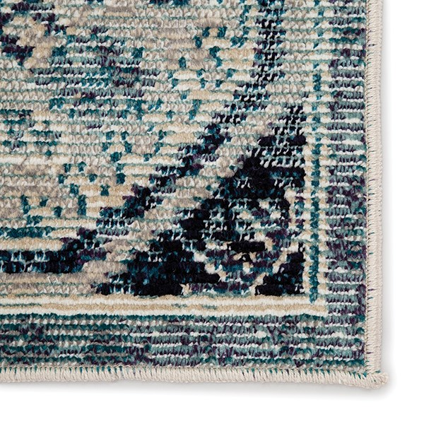 Blue, Purple (IDE-02) Vintage / Overdyed Area Rug