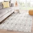 Product Image of Grey, White (LUM-01) Outdoor / Indoor Area Rug