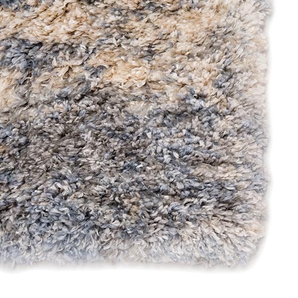 Grey, Blue (LYR-01) Shag Area Rug