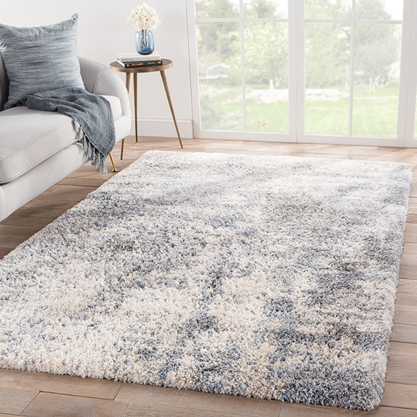 Grey, Blue (LYR-01) Shag Area Rug