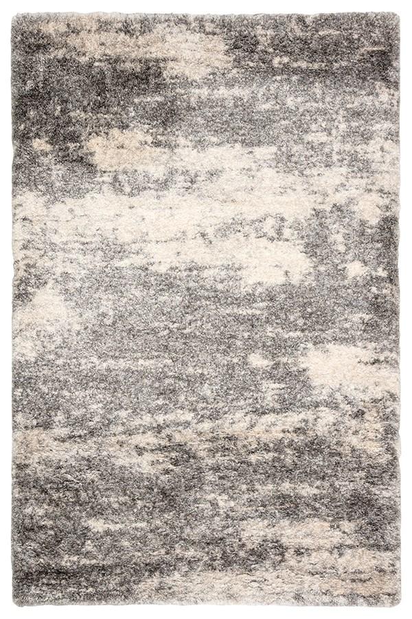Grey, Ivory (LYR-02) Shag Area Rug