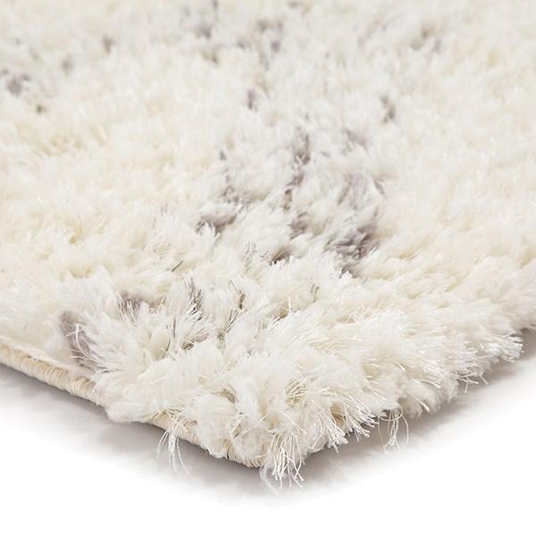 Ivory, Light Grey (MKA-01) Shag Area Rug