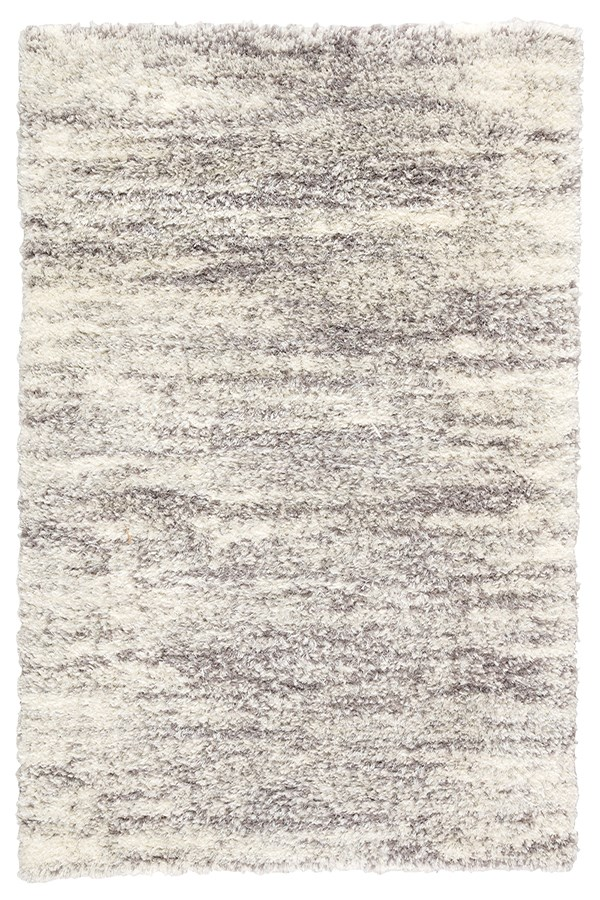Ivory, Light Grey (MKA-03) Shag Area Rug