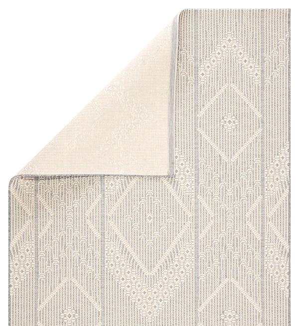 Cream, Grey (MOC-04) Bohemian Area Rug