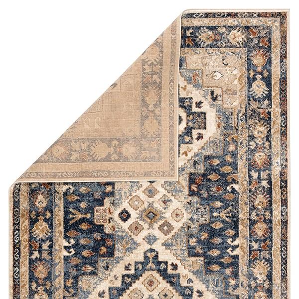 Beige, Blue (SAR-02) Traditional / Oriental Area Rug