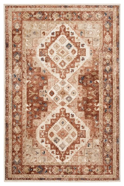 Beige, Red (SAR-01) Traditional / Oriental Area Rug