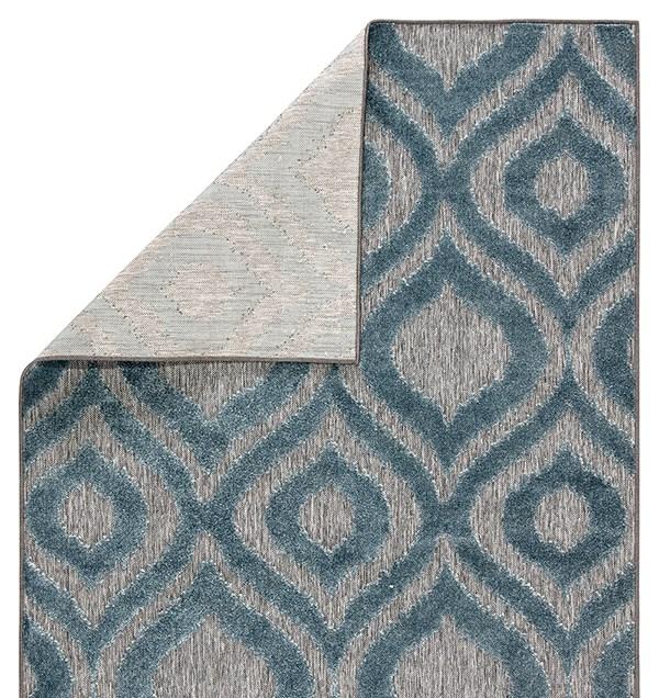 Grey, Blue (UNA-05) Moroccan Area Rug