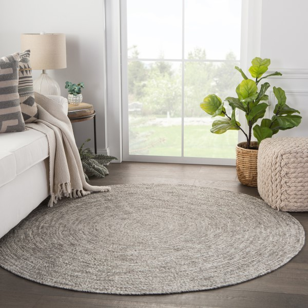 Gray (IDS02) Contemporary / Modern Area Rug