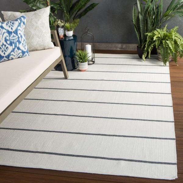 Cream, Black (LAN04) Outdoor / Indoor Area Rug