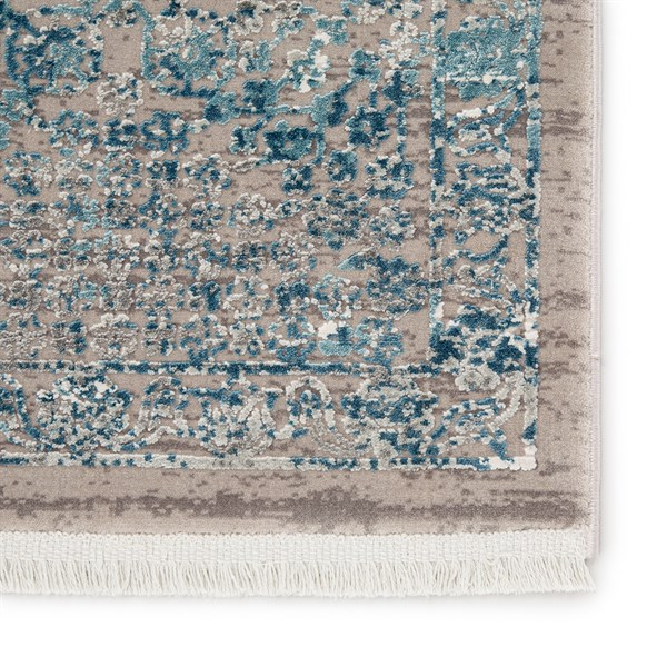 Blue, Grey, Ivory (WRN02) Abstract Area Rug