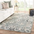Product Image of Light Blue, Ivory, Grey (BER07) Transitional Area Rug