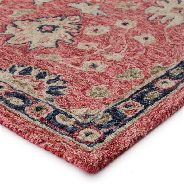 Red, Beige, Navy (PRO04) Transitional Area Rug
