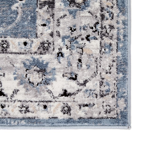 Blue, White (SOL01) Transitional Area Rug