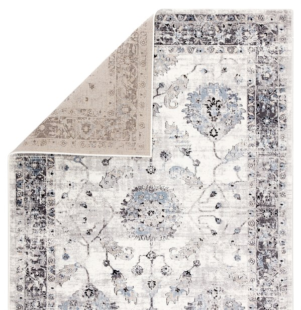 White, Grey, Black (SOL02) Transitional Area Rug