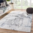 Product Image of White, Blue, Grey (SOL03) Abstract Area Rug