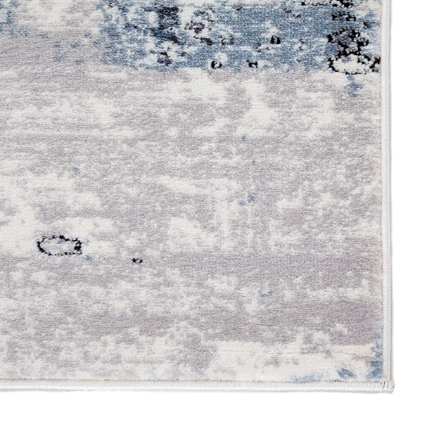 White, Blue, Grey (SOL03) Abstract Area Rug