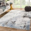 Product Image of Blue, White, Black (SOL05) Abstract Area Rug